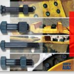 Earthmoving plow bolts track fasteners